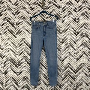"J Crew 10"" High-Rise Toothpick Skinny Jeans 27"